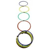 de Fútbol JS Escalera agilidad aros multicolor 9042